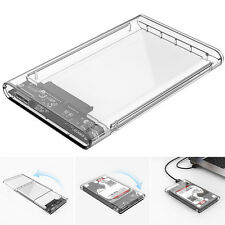 2.5 inch Transparent USB3.0 HDD Case Tool Hard Drive Enclosure + USB 3.0 Cable
