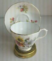 Duchess Bone China Rose Floral Teacup Saucer England