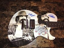 Cheech & Chong Rare Signed Limited Edition Schecter Guitar Tommy & Marin + PROOF