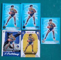 (5×) James wiseman rookie lot 2021 NBA hoops/donruss panini basketball