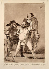 Francisco Goya Caprichos - Nr. 76  Original Aquatinta Radierung 1868 Está Vm ...