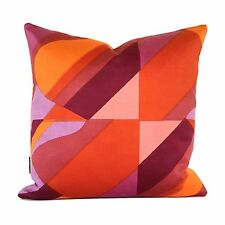 Cushion Cover Vintage 1960s Heals Parabola Fabric By Caroline Irving Pink Orange
