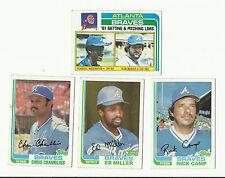 VINTAGE 1982 TOPPS BASEBALL CARDS – ATLANTA BRAVES – MLB