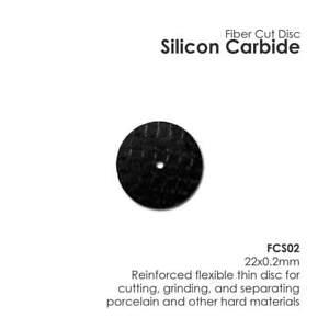Dental Lab Silicon Carbide Fiber Disc  Flexible 22mm x 0.2mm New