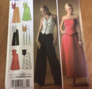 Simplicity Misses/Misses Petite Evening Tops Skirt And Pants