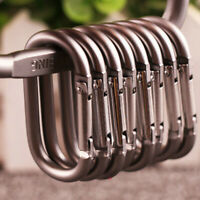 2pcs Outdoor Hiking Hang Clip Camping Ring Carabiners Buckle Snap Hook Keychain