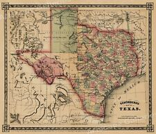 Map Of Texas In 1800.Texas Antique Maps 1800 1899 For Sale Ebay