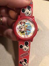 ZL VINTAGE DISNEY MOUSE Spasso Quartz Plastic Watch Disney Minnie Mouse Watch