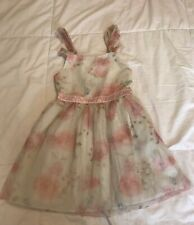 Disney Beauty & The Beast Belle Cold Shoulder Size 5 Beautiful Lace Dress Roses