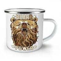 Hippie Beast Bear NEW Enamel Tea Mug 10 oz   Wellcoda