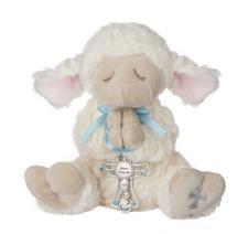 Ganz Serenity Lamb  w/ Crib Cross - Boy - Blue Nice Christening or Baptism Gift