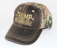 Donald Trump Keep America Great Hat with Mossy Oak Camo Embroidered NWT