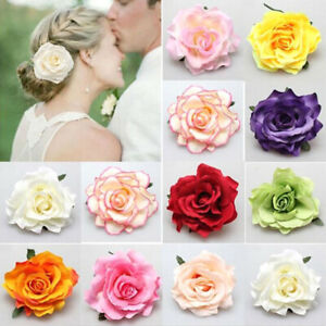 Womens Rose Flowers Hairpin Hair Clip Wedding Bridal Party Hair Accessories Gift