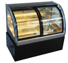 220V Commercial Refrigerated Showcase Front Open the Door Bakery Pier Dispaly US