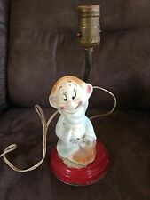 VINTAGE SNOW WHITE AND THE SEVEN DWARFS POTTERY DOPEY TABLE LAMP WALT DISNEY