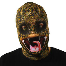 Snake Bite venom lengua Diseño 3D Efecto Cara Piel Lycra Tela Máscara Horror