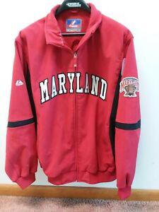 Majestic Men's University of Maryland Collection Red Nylon Jacket coat 2XL