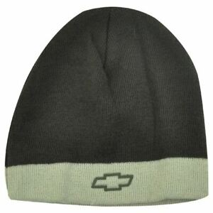 BEANIE KNIT HAT CAP CHEVROLET CHEVY RACING RIFLE BROWN