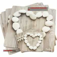 Set of 2 4 6 Howard Shooter Pebble Hearts Placemats & Coasters Dinner Table Mats 8 Coasters