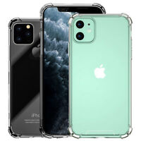 For iPhone 11 / 11 Pro Max Clear Hard Case Protective Bumper Hybrid Cover Shell