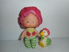 Vintage Strawberry Shortcake Cherry Cuddler with Gooseberry Doll Figure 1979