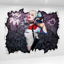 Harley Quinn Movie 3D Look Wall Vinyl Sticker Poster - DC Batman Suicide Squad