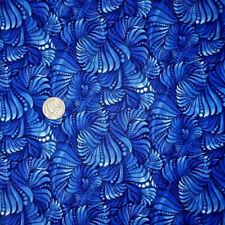 Fabri-Quilt Winter Blue Swirls Navy 100% cotton fabric by the yard