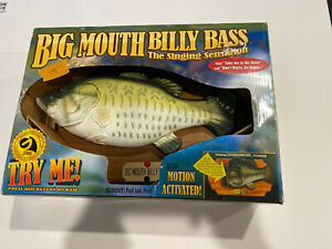 Vintage 1999 Big Mouth Billy Bass The Singing Sensation Fish Does Not Work