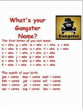 "~Post Card~""What's Your Gangster Name?"" --- (B333)"