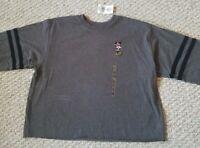 Disney Minnie Mouse Youth Girls Junior Gray Sweatshirt Youth Size XL