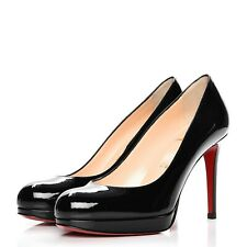 Christian Louboutin New Simple Pump 100 patent leather Shoes Heels Black 41.5