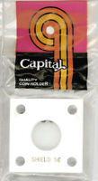 Capital Holder 2x2 For Shield Nickel Coin Display White Acrylic Plastic Case NEW