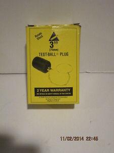 "CHERNE, 3""(75mm) TEST-BALL PLUG, # 270-032, FREE SHIPPING BRANDNEW IN SEALED BOX"