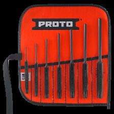 """Proto®  J49007 -7 Piece Roll Pin Punch Set 1/16"""" to 7/32""""  Made in USA"""