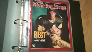 """Brett Favre """"The Best"""" The Sporting News Color 8x10 Photo- NEW"""