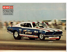 1969 BARRACUDA FUNNY CAR DRAG RACING / TOM MCEWEN ~ MAGAZINE PHOTO / PICTURE/AD