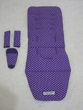 Baby jogger City mini pram liner set-Purple with stars-Handmade.