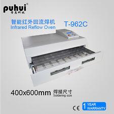 T962C Infrared IC Heater Reflow Oven Soldering Machine 2500W 400x600mm s