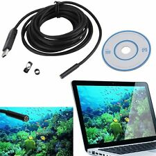5M Impermeabile 7mm 6 LED USB ENDOSCOPE BORESCOPE Inspection SNAKE VIDEOCAMERA