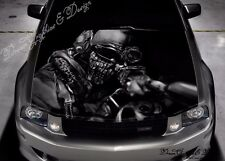 Sniper Hood Full Color Graphic Adhesive Vinyl Sticker Wrap Decal Fit any Car 293