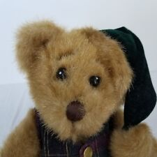 Minky First And Main Teddy Bear Plush Stuff Animal Toy Stocking Cap Vest Brown