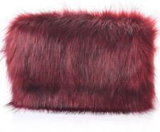 Ladies Designer Fluffy Feather Clutch Faux Fur Bag Purse golden Chain Runway New