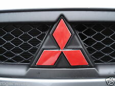 Mitsubishi Lancer F&R Emblem Overlay Decal 08 09 2010 2011 2012 2013 14 15 16 17