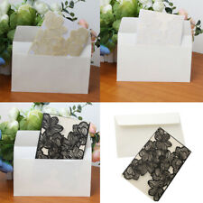 10 Sets Wedding Engagement Laser Cut Lace Invitation Cards Blank Inserts Design