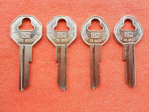4 GM CHEVY BUICK PONTIAC OLDS KEY BLANKS 46 47 48 1949 1950 1951 1952 1953 1954