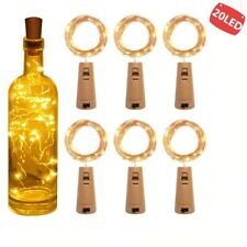 6pcs Christmas Halloween String led Wine Bottle with Cork 20 LED Bottle Lights