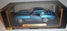 MAISTO 1965 CORVETTE COUPE BLUE 1/18 DIECAST