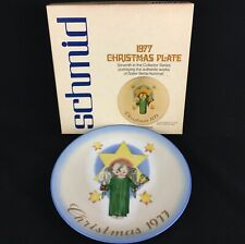 Vtg Collector Plate 1977 Berta Hummel Herald Angel Christmas Ltd Edition Germany