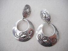 Vintage Sterling Silver Southwest Designed Dangle Earrings  B Cooke  212166