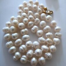 """Lovely Natural FRESHWATER  PEARL Necklace, freeform beads, 20 1/2"""" long."""